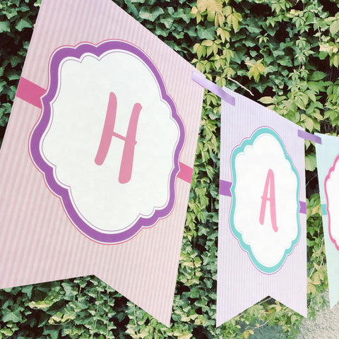 Whimsical Bunting Banner