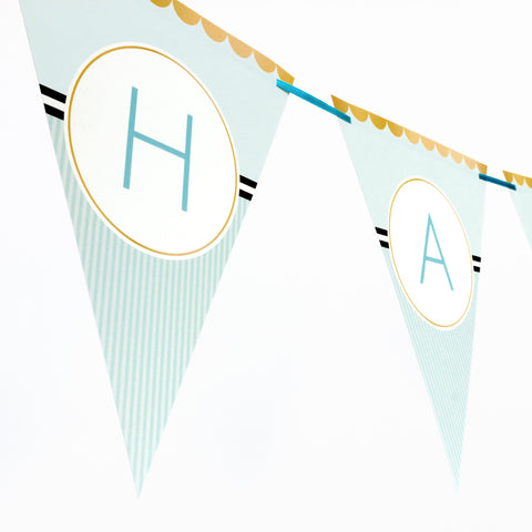 Classy Blue Bunting Banner