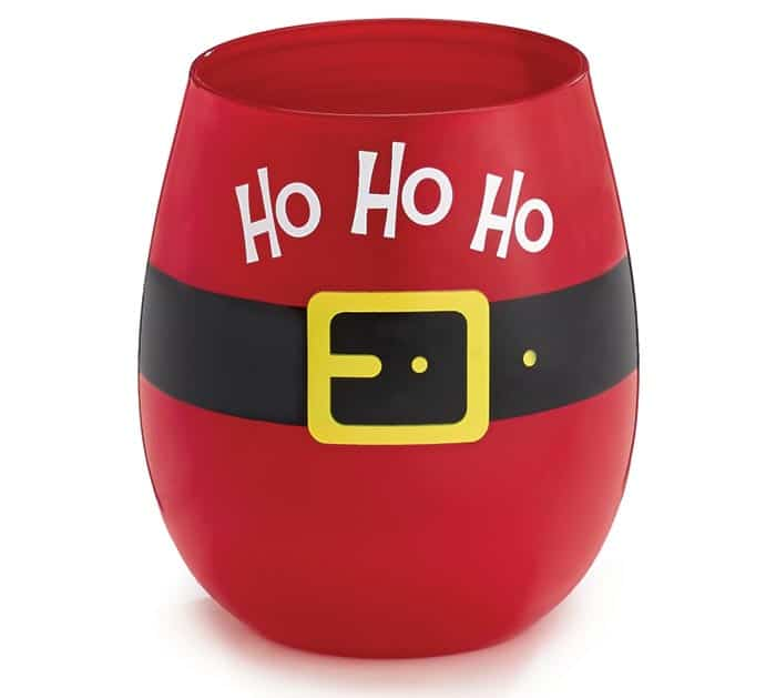 SANTA BELT WINE GLASS