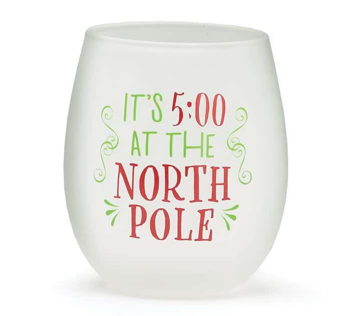 NORTH POLE STEMLESS WINE GLASSES