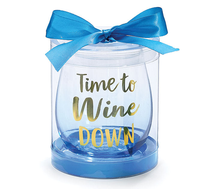 TIME TO WINE DOWN STEMLESS GLASSES -  Christmas Club Store