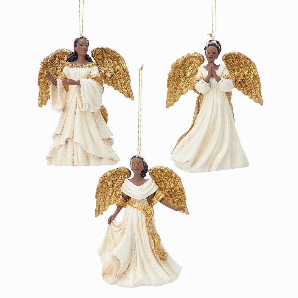 AFRICAN AMERICAN ANGEL ORNAMENTS
