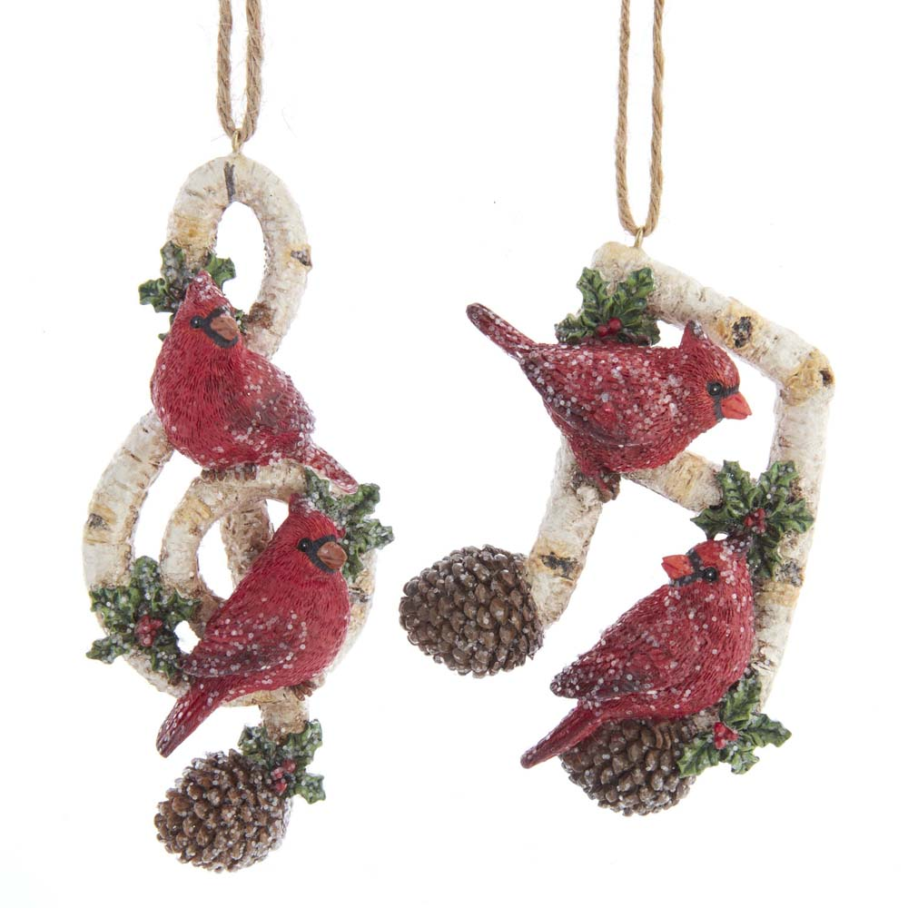 CARDINAL MUSIC NOTE ORNAMENTS