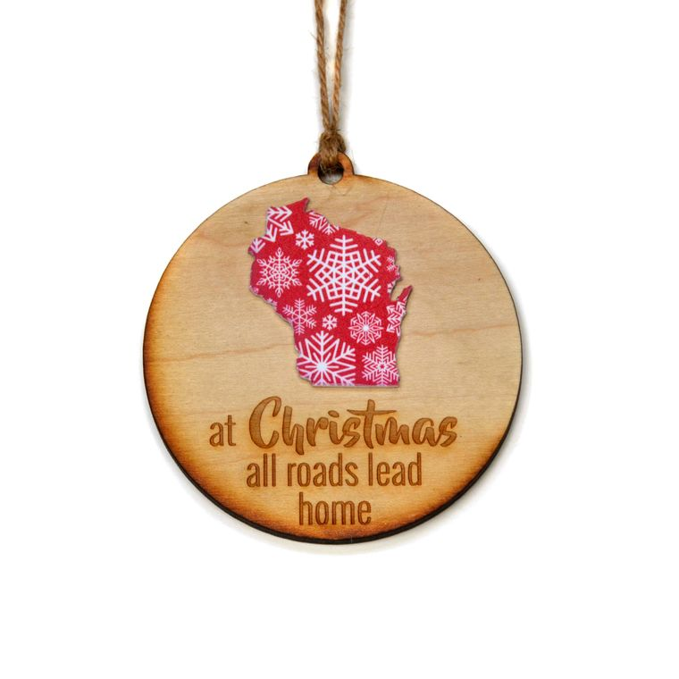 All Roads Lead Home State Ornament -  Christmas Club Store