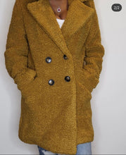 Load image into Gallery viewer, Mustard Teddy Coat