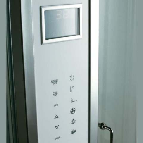 "Image of Athena Platinum 47"" Walk In Steam Shower - WS-121"