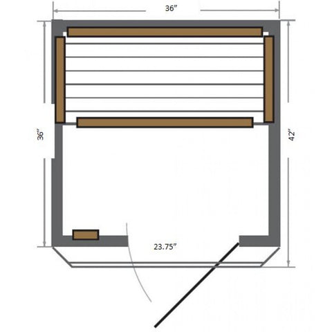 Image of SunRay Barrett 1 Person Hemlock Sauna w/Carbon Heaters - HL100K2