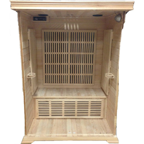 SunRay Cordova 2 Person Cedar Sauna w/Carbon Heaters/Vertical Heater Panels - HL200K1