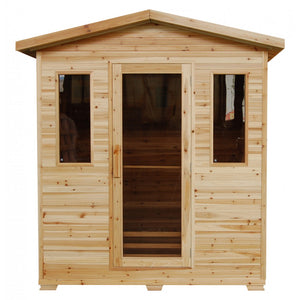 SunRay Grandby 3 Person Outdoor Sauna w/Ceramic Heater - HL300D
