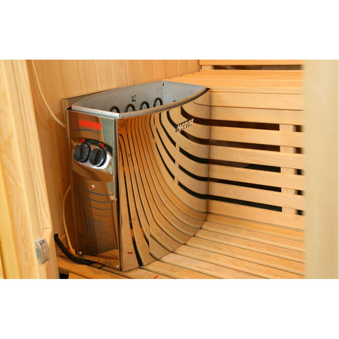 Image of SunRay Rockledge 2 Person Luxury Traditional Sauna - 200LX