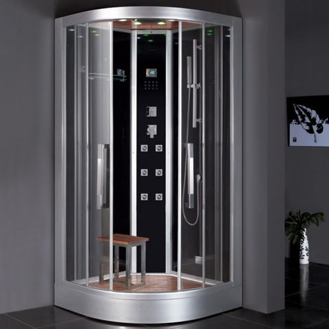 "Image of Platinum 39"" Corner Steam Shower - DZ693F8"