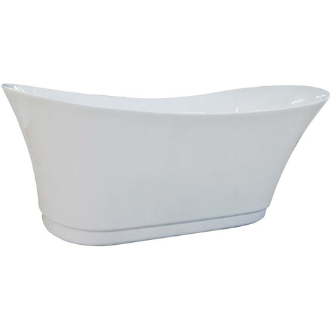 Image of EAGO 6 Foot White Free Standing Air Bubble Bathtub - AM2140 - Oceanviewcity