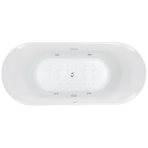 "Image of EAGO 74"" White Free Standing Air Bubble Bathtub - AM1900 - Oceanviewcity"