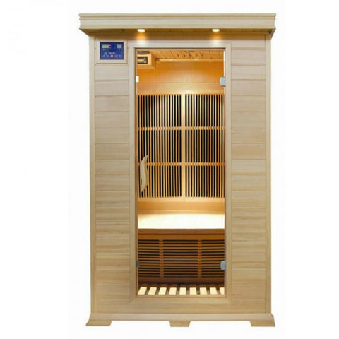 Image of Sunray Evansport 2 Person Hemlock Sauna w/Ceramic Heaters - HL200K2