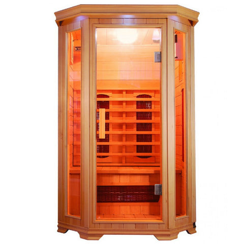 SunRay Heathrow 2 Person Hemlock Sauna w/Ceramic Heaters - HL200W