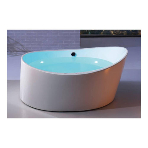 "EAGO 66"" Round Free Standing Acrylic Air Bubble Bathtub - AM2130 - Oceanviewcity"