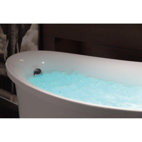 Image of EAGO 6 ft White Free Standing Air Bubble Bathtub - AM1800 - Oceanviewcity