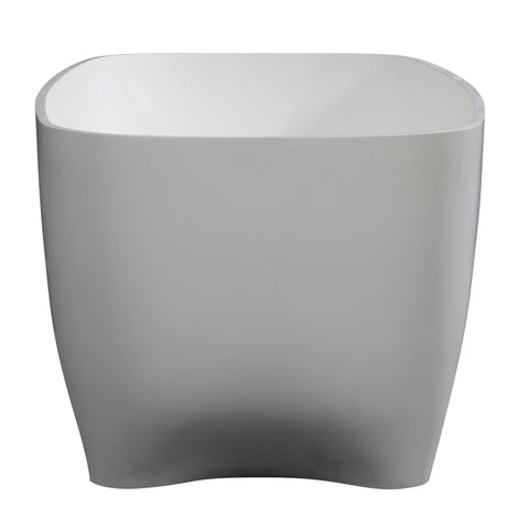 "ALFI brand 67"" White Matte Solid Surface Resin Bathtub - AB9980 - Oceanviewcity"