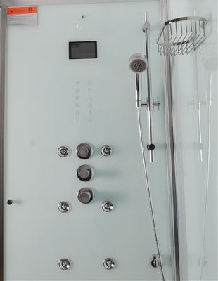 "Athena 59"" Rectangular Walk In Steam Shower"
