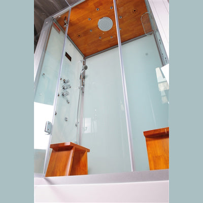 "Image of Athena 59"" Walk In Steam Shower-Sliding Door"