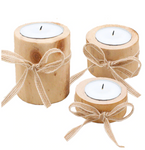 Cosy Wooden Candle Holders