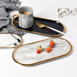 Elegant Tray with Marble Design