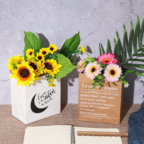 Creative Kraft Paper Flower Vase