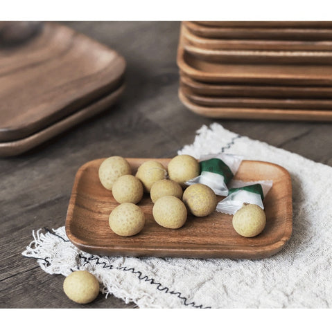Japanese Acacia Tray Set