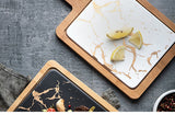 Nordic Golden Marble Ceramic Board