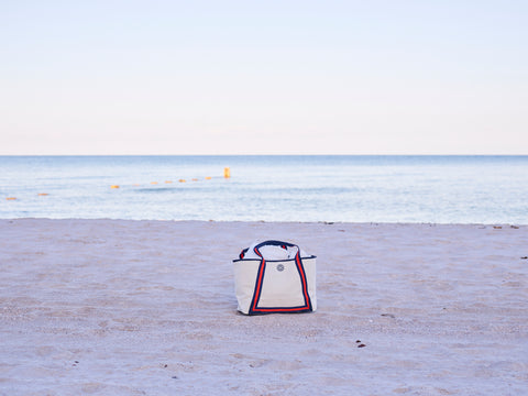 Image of tote on beach