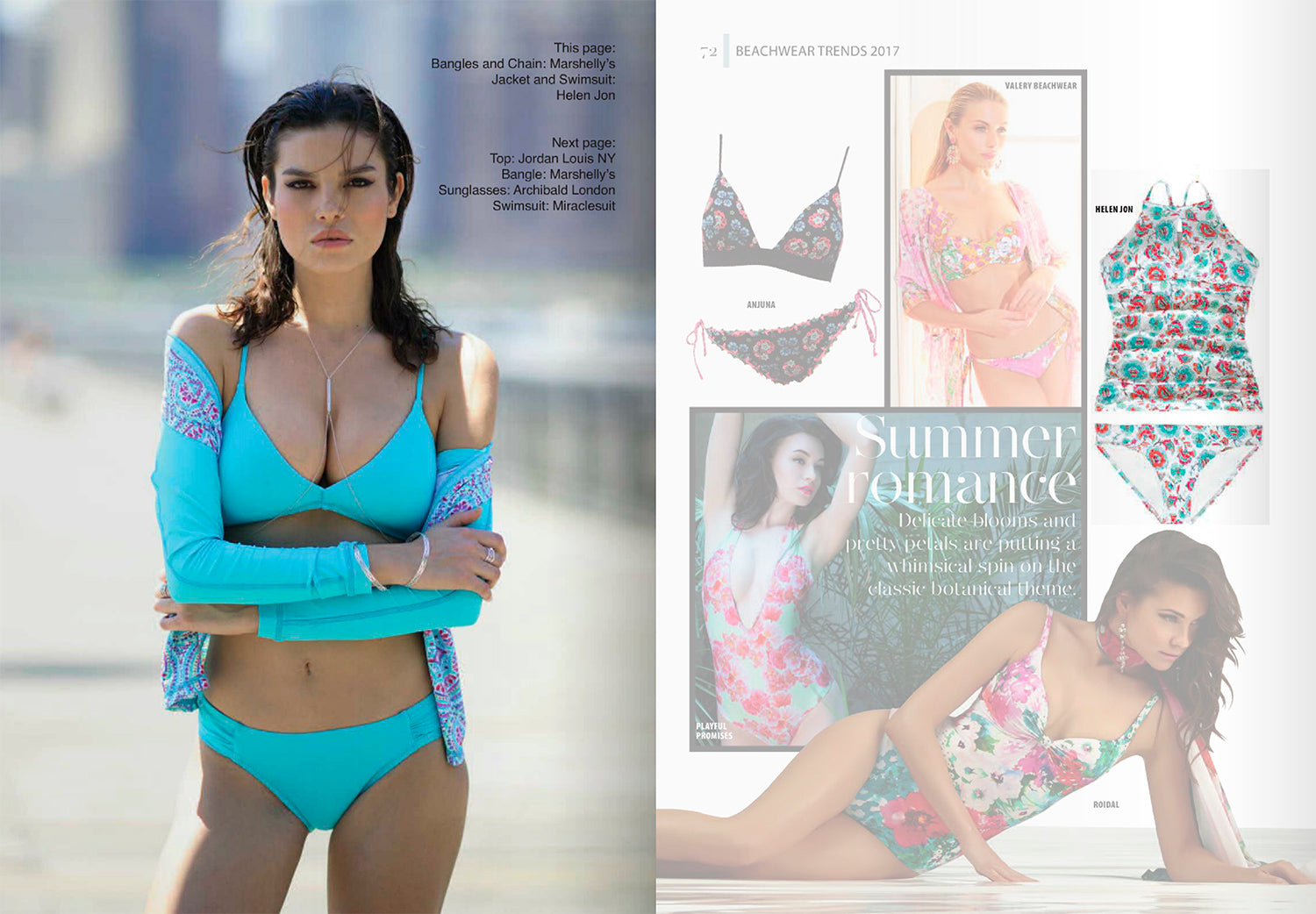 Intima Magazine The Best of Swim Peacock Bralette Rashguard Bali Hai Tankini