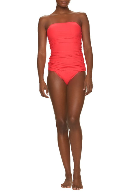 RUFFLE FRONT ONE-PIECE-GINGER