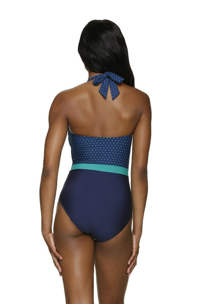 DRAPER JAMES ❤️ HELEN JON DEL REY ONE-PIECE-PETITE DOT