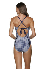 DRAPER JAMES ❤️ HELEN JON ISLAND ONE-PIECE-GEO FLOWER