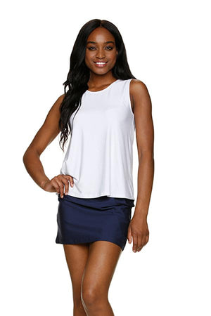 SWIM SKIRT COVER-UP-NAVY