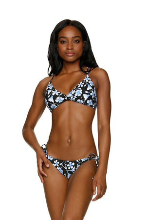 DRAPER JAMES ❤️HELEN JON STRING BIKINI BOTTOM - FLORAL GARDEN