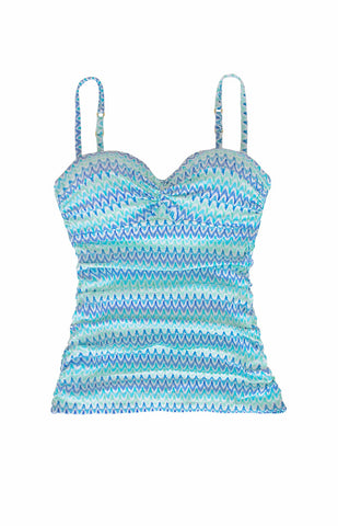 TWIST UNDERWIRE TANKINI-BEACHCOMBER