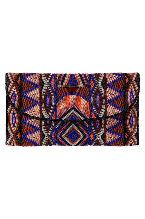 ASPIGA BECKA BEADED CLUTCH-AUTUMN