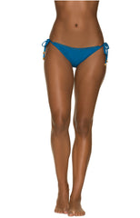 SCALLOPED STRING BIKINI BOTTOM-CARIBBEAN