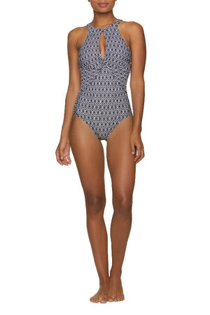 HIGH NECK ONE-PIECE-DEL CARMEN