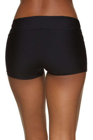 FOLD-OVER SHORT - BLACK