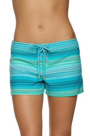 "3"" LACE-UP BOARD SHORT-JADE COAST"