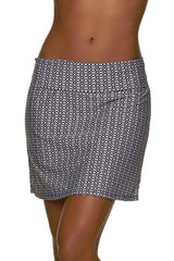 POOLSIDE SKIRT-BLACK-WHITE