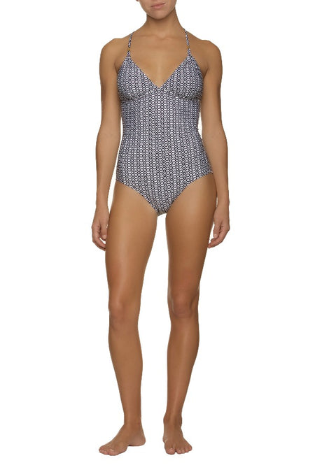 TIE BACK ONE-PIECE-CORSICA