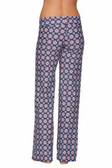FOLD-OVER BEACH PANT-COMPASS GEO