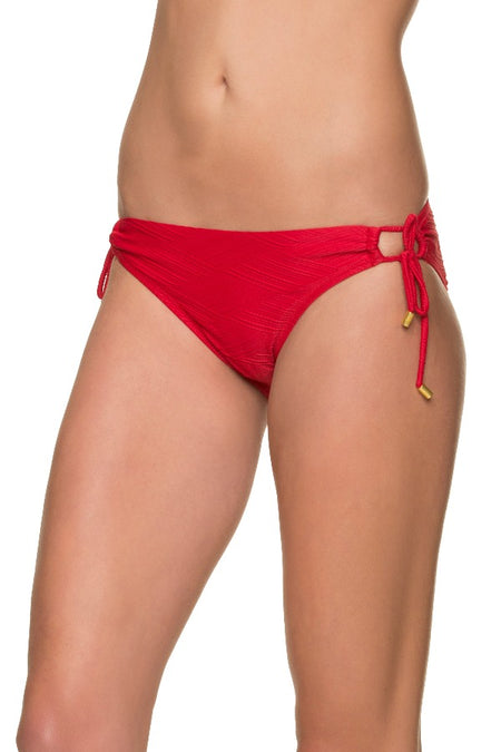 D/DD FLOATING UNDERWIRE BRA-TEXTURED TOPSAIL RED