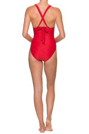 PARADISE ONE-PIECE-TOPSAIL RED