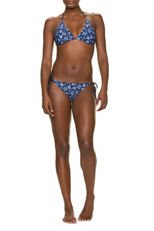 REVERSIBLE STRING BIKINI TOP-CUT OUT FLORAL
