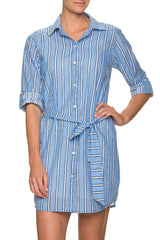SHIRT DRESS-BOLD STRIPE
