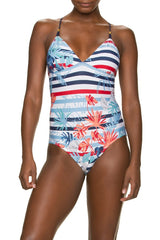 TIE BACK ONE-PIECE-CORONA DEL MAR